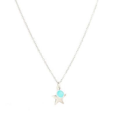 Kette star blue silver