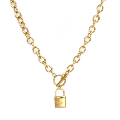 Kette chain lock gold