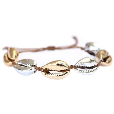 Armband gold silver shell