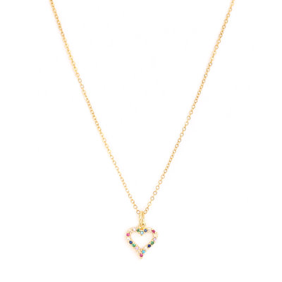 Kette Heart strass gold