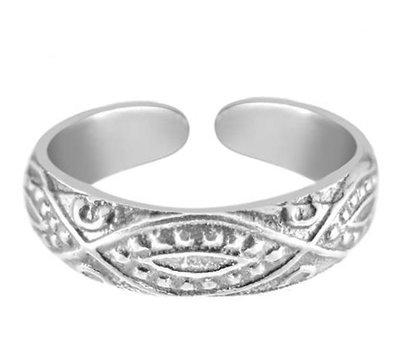 Midi pink ring Inca (silber)
