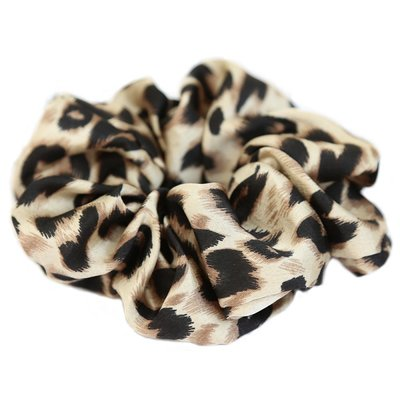Satin scrunchie leopard