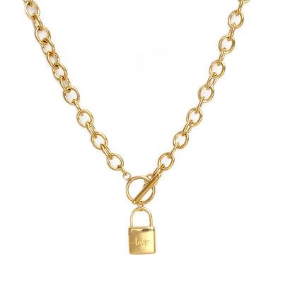 Kette chain lock gold