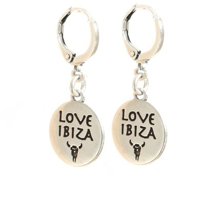 Ohhringe - Love Ibiza silver
