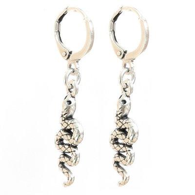 Ohhringe - Snake silver
