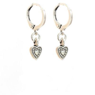 Ohhringe - Heart silver