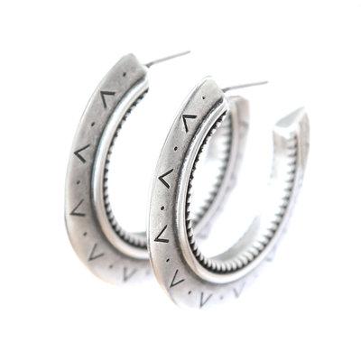 Ohhringe Aztec silver
