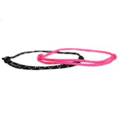 Armbanden set surf culture pink