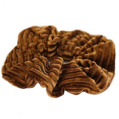 Velvet rib scrunchie Cognac