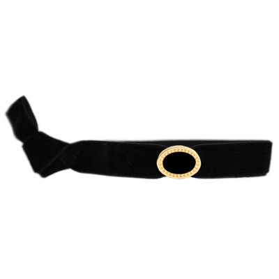 Velvet Armband charm black gold