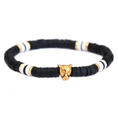Armband leo chic black