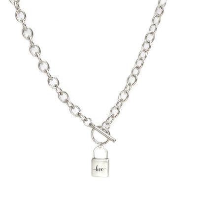 Kette chain lock silver