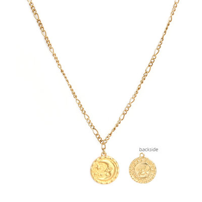 Ketting sun and moon gold
