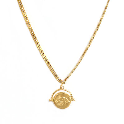 Kette eye on you gold