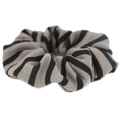 Scrunchie stripe grey black
