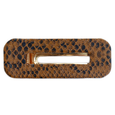 Statement haarspange Snake brown