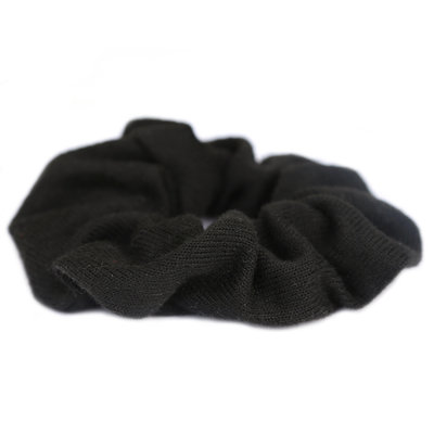 Scrunchie knitted black