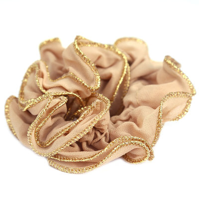 Scrunchie gold thread