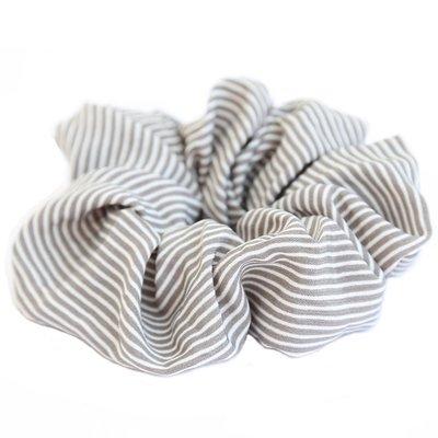 Scrunchie stripe grau
