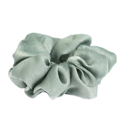 Seide scrunchie Light olive
