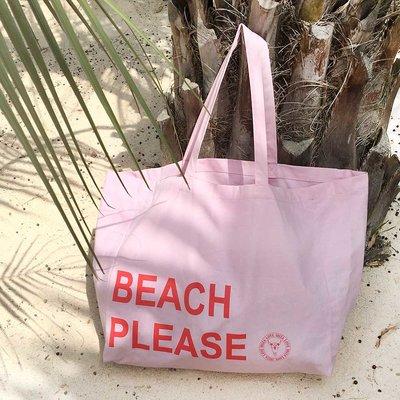 Canvas Strandtasche Beach Please