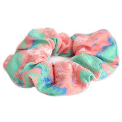 Scrunchie coral green