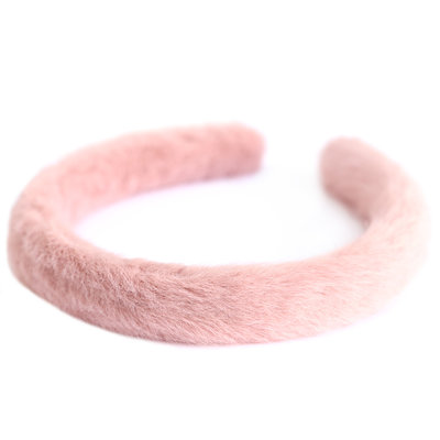 Haarband faux fur rosa