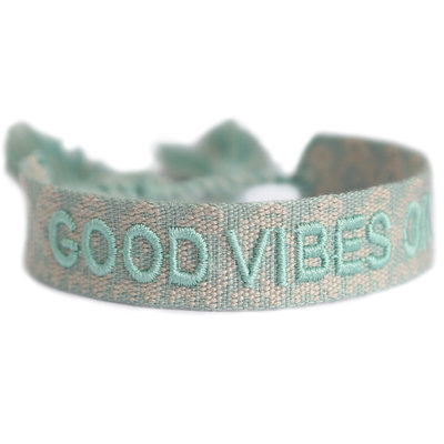 Good vibes only bracelet minze