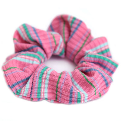 Scrunchie pink stripe