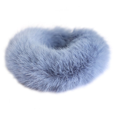 Scrunchie faux fur blue