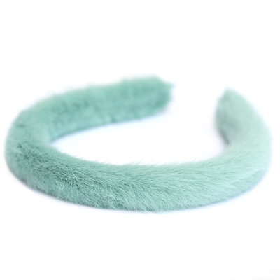 Haarband faux fur minze