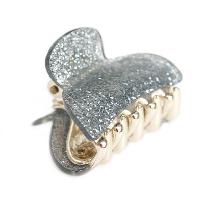 Haarspange small silver sparkle