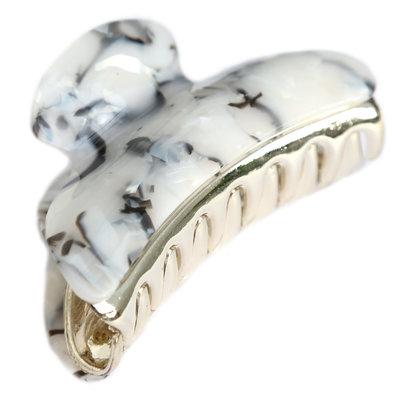 Haarspange marble ivory