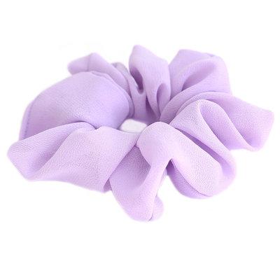 Scrunchie chiffon lila