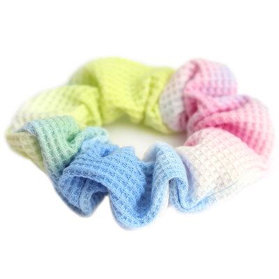 Scrunchie waffle tie dye rainbow