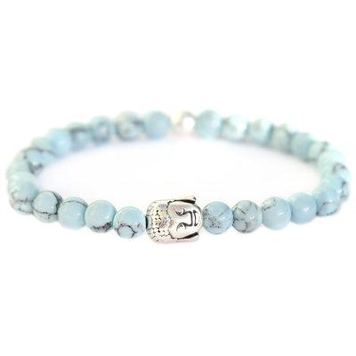 Buddha Armband baby blue stone