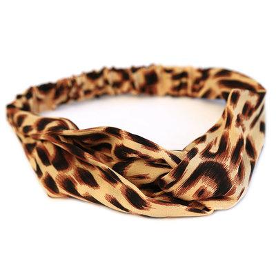 Haarband leopard rose