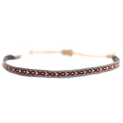 Armband Aztec grau