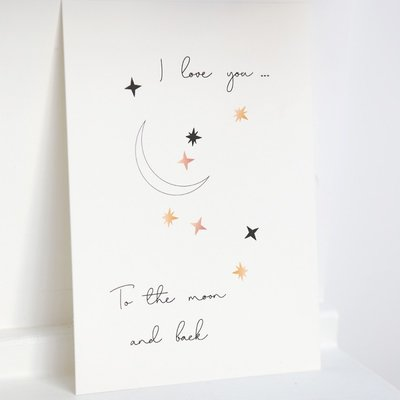 Card - I love you to the moon and back