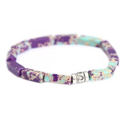 Beachlife armband turquoise purple