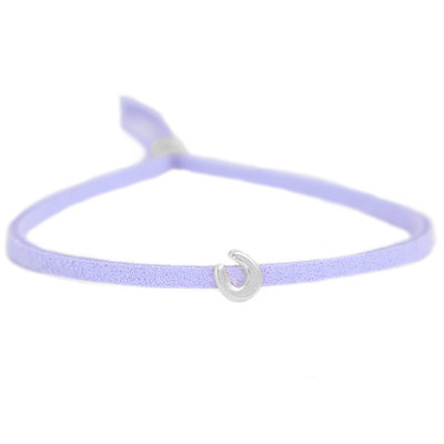 Armband for good luck - flieder silver