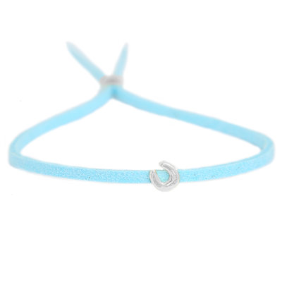 Armband for good luck - blue silver