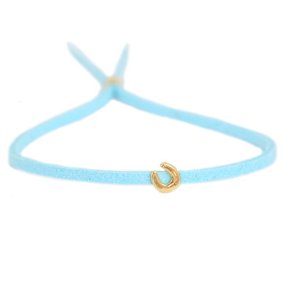 Armband for good luck - blue gold