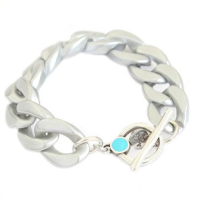 Armband chain matte silver