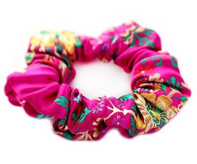 Scrunchie Gypsy fuchsia
