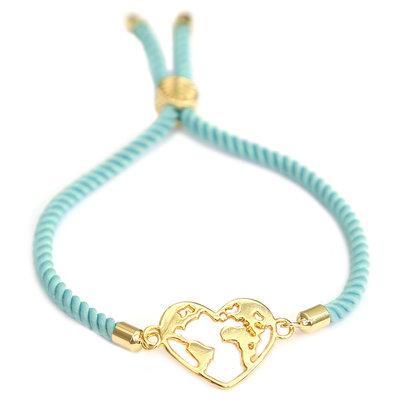 Armband heart earth blue