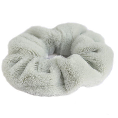 Scrunchie teddy light olive