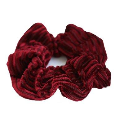Velvet rib scrunchie Wine