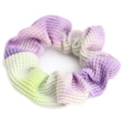 Scrunchie waffle tie dye purple