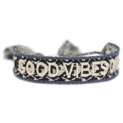 Gewebetes armband good vibes only melee
